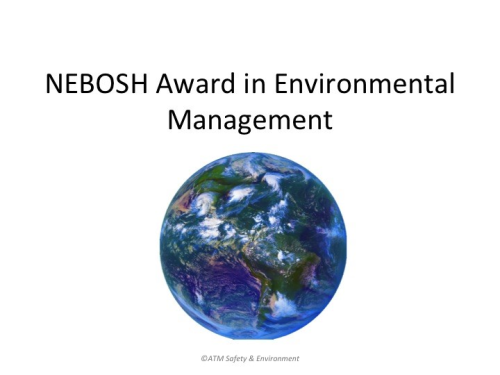 NEBOSH Env.Awareness Award
